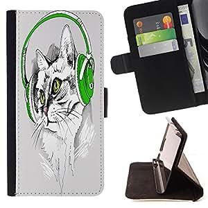 King Case - FOR Sony Xperia Z1 Compact D5503 - you're going to be - Prima caja de la PU billetera de cuero con ranuras para tarjetas, efectivo Compartimiento desmontable y correa para la mu?eca