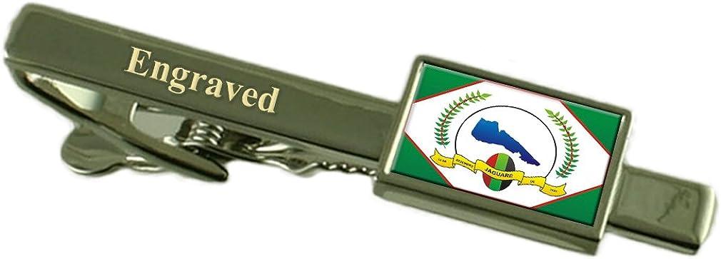 Jaguare City Espirito Santo State Flag Tie Clip Engraved in Pouch