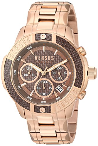 Versus by Versace Men's 'Admiralty' Quartz Tone and Gold Plated Casual Watch(Model: VSP380617)