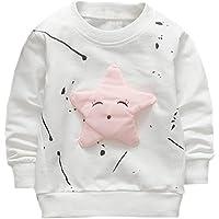 QUICKLYLY Camisetas de Manga Larga para Bebé Niña