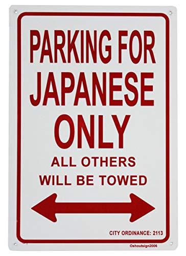 - Faaca Metal Sign Japan Parking Sign(18