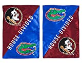 Florida State Seminoles Official NCAA 12.5 inch x 18 inch House Divided Garden Flag