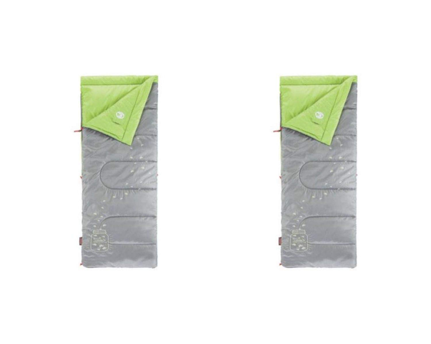 Coleman Plum Fun 45 Youth Sleeping Bag (2 Set, Grey Illumi-Bug)