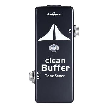 ammoon Mini Clean Buffer Pedal de Efectos de Guitarra Tono de Ahorro Cuerpo de Aleación de