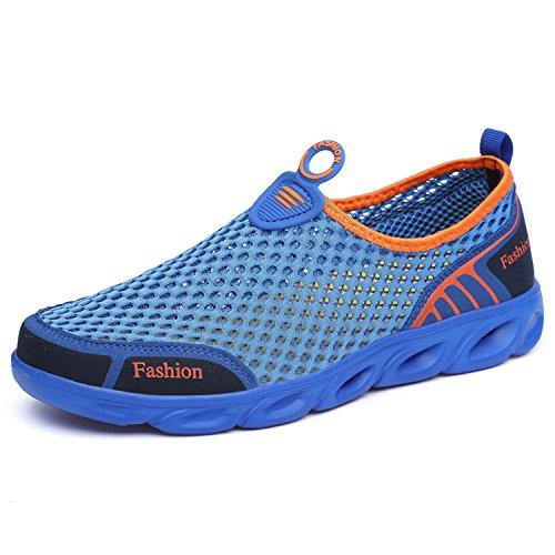 Men Water Slip Lightweight Kid Blue Women Unisex OUYAJI on Shoes Mesh ngq4RqO10