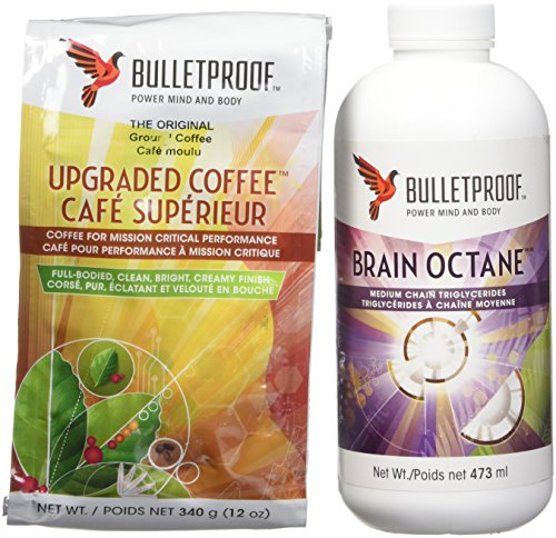 Bulletproof Intro Kit (Amazon Upper-class) 12oz Ground Coffee, 16oz Brain Octane