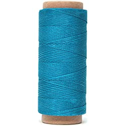 Mandala Crafts 0.45mm Leather Sewing Hand Stitching Jewelry Craft Round Waxed Thread String Cord (0.45mm, Teal)