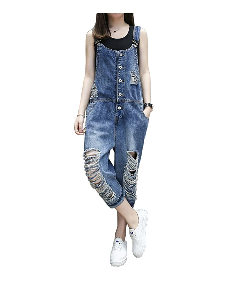 Women's Clothing Jeans Spirited Denim Jumpsuit Overall Women Jeans Woman Skinny Plus Size Loose Womens Jeans Overalls Women Elastic Waist Jumpsuit Female Jeans