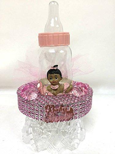 Ethnic Baby Girl with Baby Bottle Cake Topper Centerpiece (Ethnic Baby Girl)