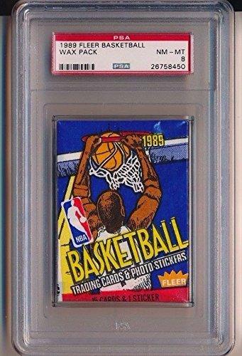1989 Fleer Basketball Wax Pack PSA 8