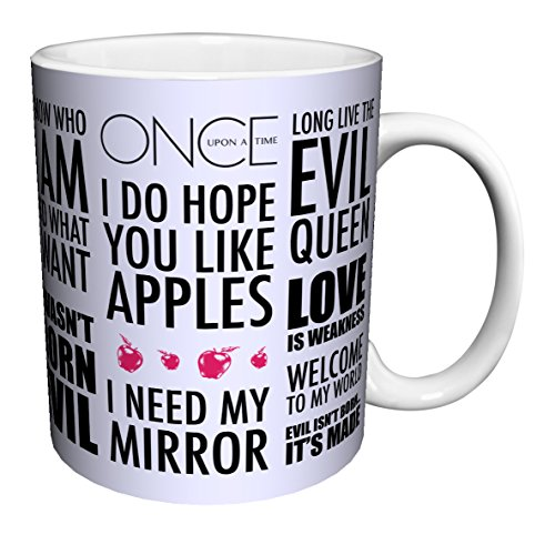 Once Upon a Time Evil Queen Regina Quotes Fantasy Drama Fairy Tale TV Television Show Ceramic Gift Coffee (Tea, Cocoa) 11 Oz. -
