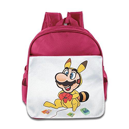 XJBD Custom Superb Super Poke Boys And Girls School Bagpack Bag For 1-6 Years Old Pink