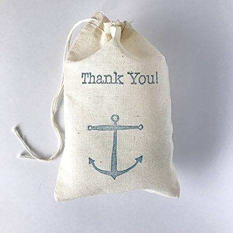 Amazon.com: Ancla Ancla bolsa de favor | Bolsa de regalo ...