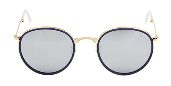 61ca7ea77d6 Amazon.com  Ray-Ban RB3517 001 30 Round Folding Gold Frame   Green ...