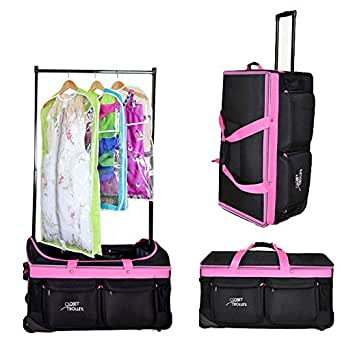 Amazon.com | Closet Trolley Dance Bag with Garment Rack