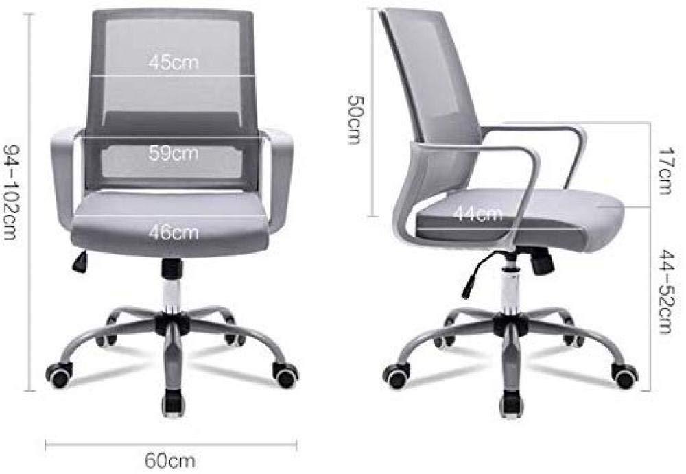 ANXWA datorstol kontorsstol hem ryggstol bekväm enkel skrivbordsstol grå ram glidande rullstol, gul grå