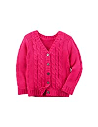 Carter's Girls' 2T-8 Cable Knit Cardigan