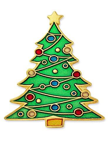 PinMart Festive Christmas Tree Holiday Enamel Lapel Pin (Tree Christmas Festive)