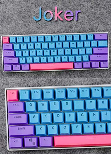 Taide 61 Key ANSI Layout OEM Profile PBT Thick Keycaps for 60% Mechanical  Keyboard (Color 7)