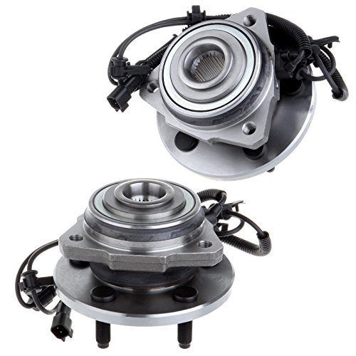 SCITOO Pair Set (2) New Front Wheel Hub Bearing Assembly ABS fit 02-07 Jeep Liberty 5 ()