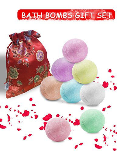 BMK Bath Bombs Gift Set Handmade Natural Organic Spa Bomb Luxury Bath Fizzies (Pack of (Cheap Bubble Bath Gift Set)