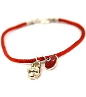 4484b578c802 MIZZE Made for Luck Jewellery Rojo bebé cuerdas zapatos Good Luck con  diseño de ojo para