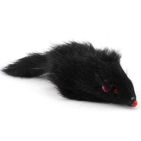 HEEPDD Juguetes con Forma de ratón para Gatos, Pelo de Conejo ...