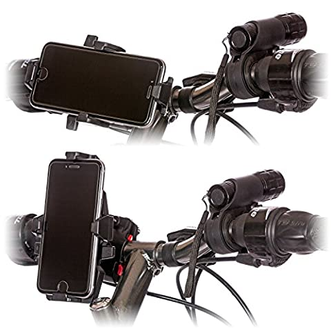 CamRah Bike Phone Mount Kit with Mounted Bicycle Light, Rear Tail Light & Accessories - Schwinn Bike Accessories