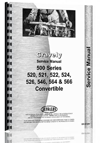 gravely 520 521 522 524 526 546 564 566 convertible walk rh amazon com gravely service manual 30 inch mower deck gravely service manual download