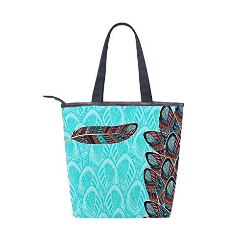 Shoulder Handbag Ancient Feather Canvas Tote Bag MyDaily Womens Tribal qzPEF8cx