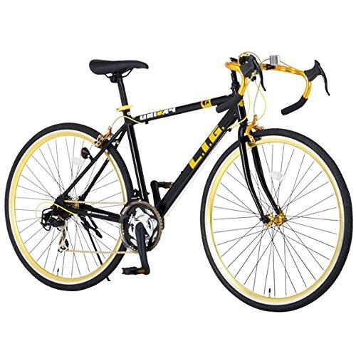 漆黒ボディにゴールドの輝きで街を駆ける!高級感が際立つ【ブラック×ゴールド】カラーのロードバイク B00LNTDA4A