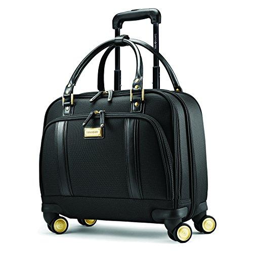 Samsonite Luggage Women's Spinner Mobile Office (One Size, Black / Gold) - Spinner Mobile
