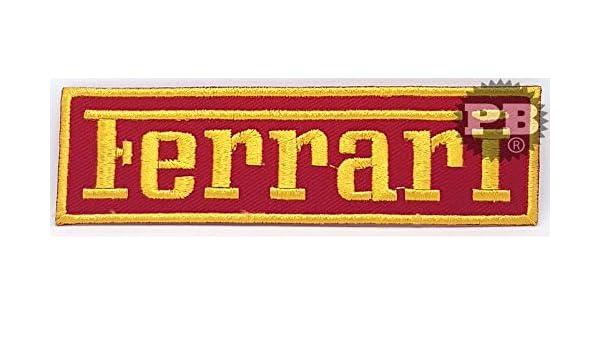 Parche bordado con logo de Ferrari para planchar o coser ...