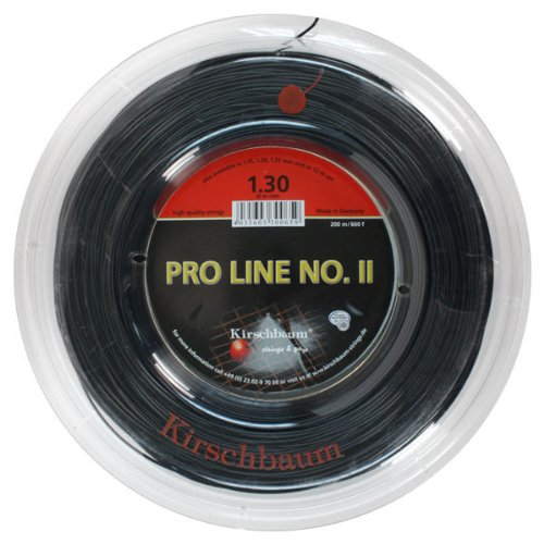 Kirschbaum Reel Pro Line II Tennis String, 1.30mm/16-Gauge, Black