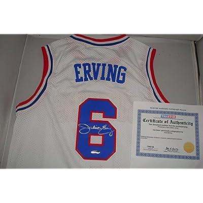 buy popular 54155 3010d Julius Erving Signed Philadelphia 76ers Jersey Tristar ...