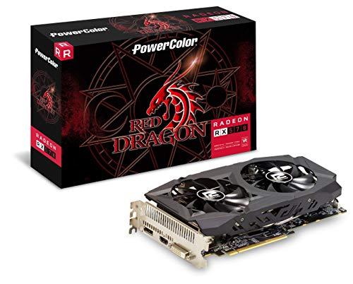 PowerColor Red Dragon AMD Radeon RX 570 8GB AXRX 570 8GBD5-DHDV2/OC