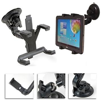 NAVITECH - Soporte De Coche con Ventosa al Parabrisas Montura Adaptable a 360 grados Para Tablet