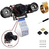 for Raspberry Pi Camera IR Cut Filter Camera Module Adjustable Focus 5MP 1080p HD Supports Day and Night Vision for Raspberry Pi 3 Model b+ and Raspberry Pi Zero