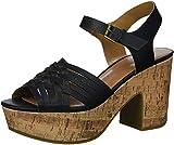 Indigo Rd. Women's Bona Heeled Sandal, Blk, 6 M US