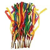 Gogoforward Hand Held Dance Rainbow Ribbon Toys for Children--Random Color ,Pack of 12