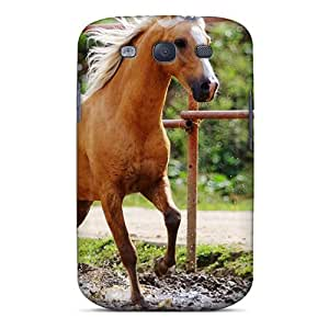 New ONpNHdi8048CUebQ Single Horse Skin Case Cover Shatterproof Case For Galaxy S3