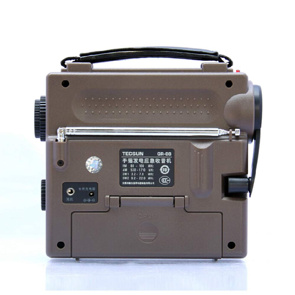 JSX FM//AM//SW-Bande compl/ète la Radio /économique//Environnement//Urgence avec lumi/ère Dynamo Main Rechargeable Cranking