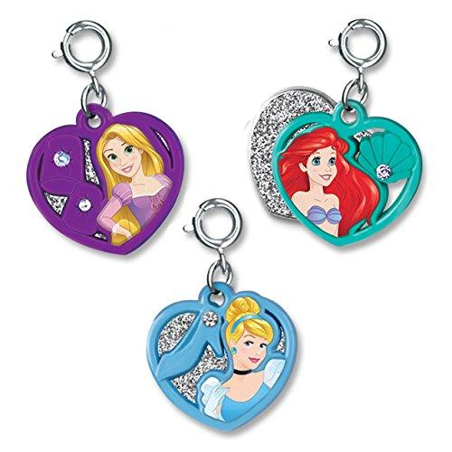 (CHARM IT! Ariel, Rapunzel and Cinderella Disney Princess Swivel Hearts 3 Charm Add On Set)