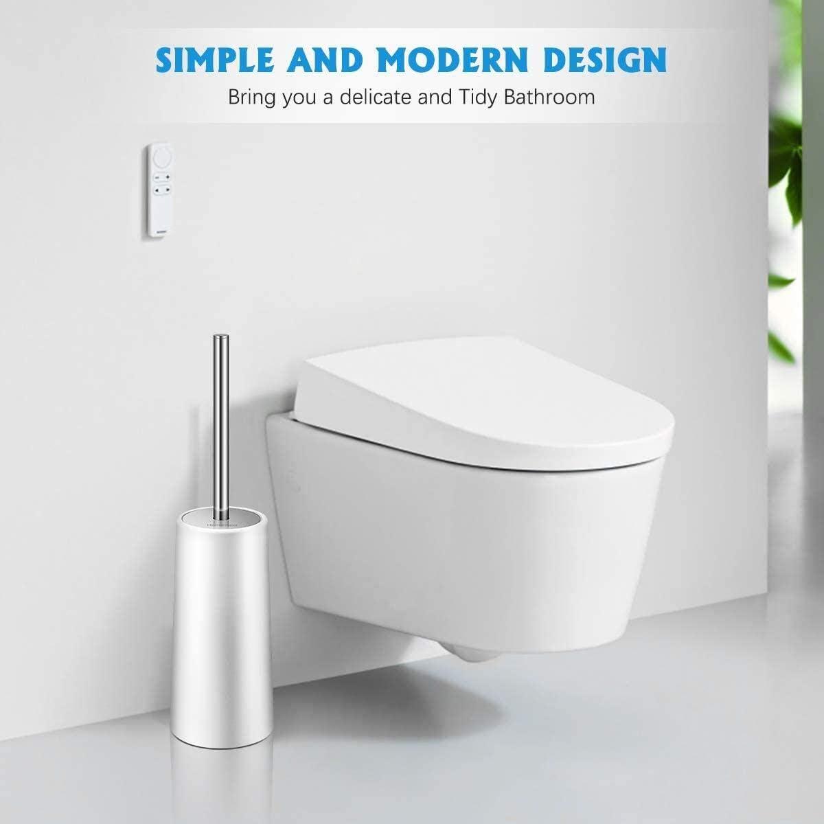 Toilet Brush and Holder, White Toilet Brush Deep Cleaning Toilet Bowl Brush for Bathroom Toilet 3 Packs