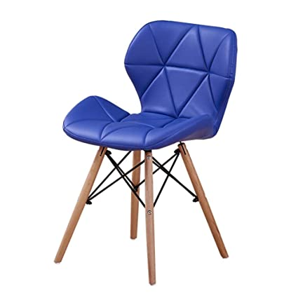 Eames Replica Faux Leather Dining Chair/Cafe Chair/Side Chair/Accent Chair (Blue) Color by Finch Fox