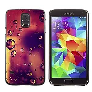 Design for Girls Plastic Cover Case FOR Samsung Galaxy S5 Bokeh Raindrops OBBA