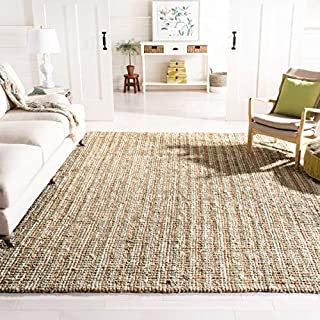 Safavieh Natural Fiber Collection NF447S Hand Woven Sage and Natural Jute Area Rug (8' x 10') (B00PNQRDS8) | Amazon price tracker / tracking, Amazon price history charts, Amazon price watches, Amazon price drop alerts