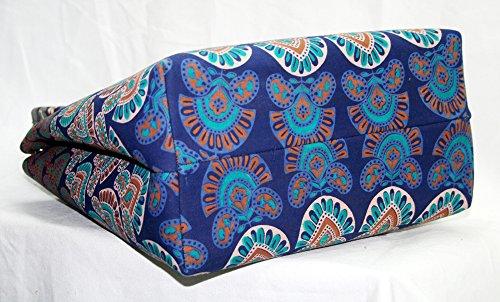 Silkroude cotone indiano shopping bag mandala Hobo Tote Carry tracolla borsa