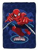 MARVEL Spiderman Astonish Plush Twin 62″ x 90″ Blanket, Spiderman Blue For Sale