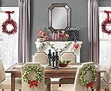 Martha Stewart Living Holly And Berries Christmas Mantel Runner Swag